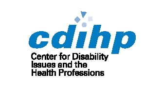 Center for Disability Issues and the Health Professions logo and link